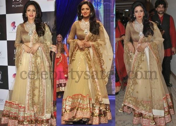 Sridevi Kapoor Bridal Shimmer Lehenga