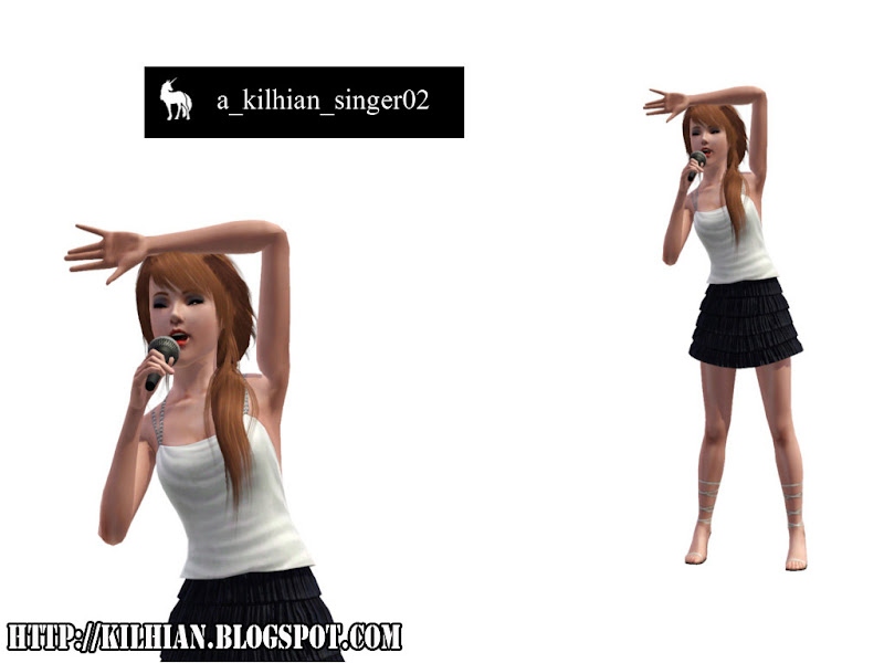 Pose Set N°01 - On Stage! by Kilhian Singer02