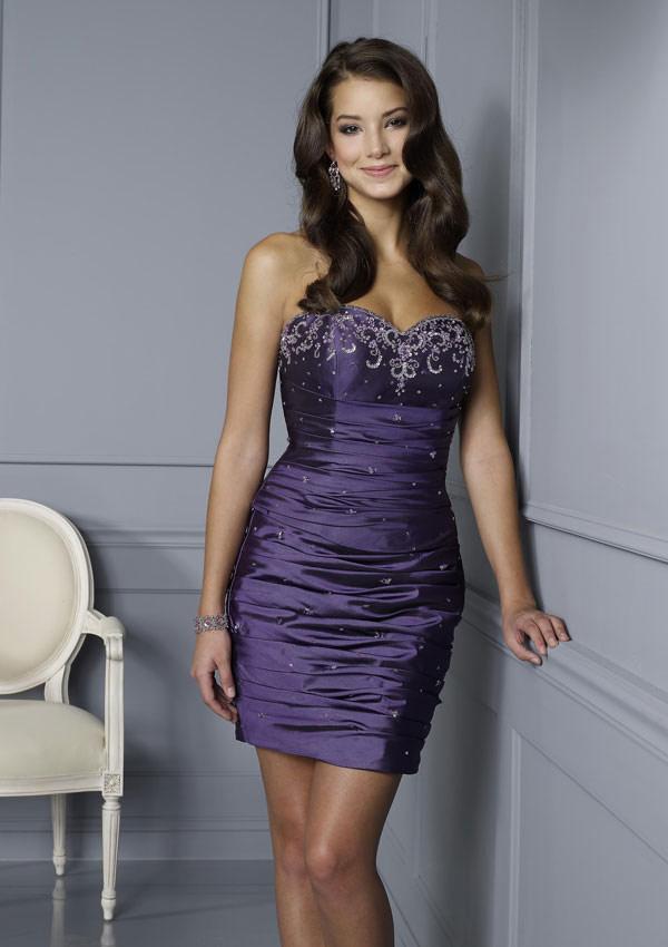 Vestido para Fiesta de 15 años o Promoción de color Púrpura o Morado ...