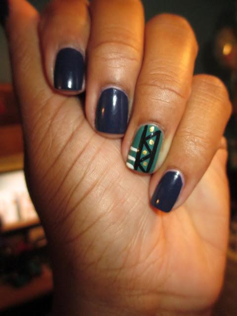 Julep, Gunta, Hoch, tribal, accent nail, nail art, nail design mani