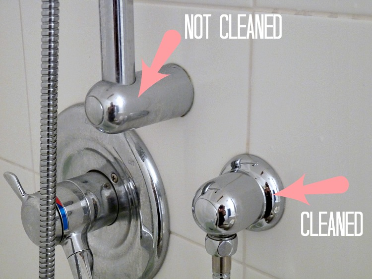 How to clean chrome faucet