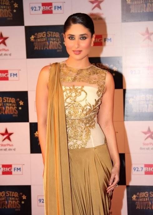 Fashion Style Glamour World Kareena Kapoor Bollywood Indian Celebrities Wear Beautiful Gold