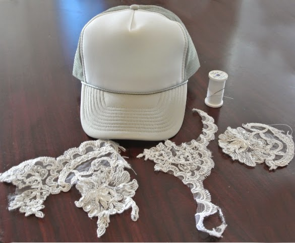 DIY Lace Trucker Hat