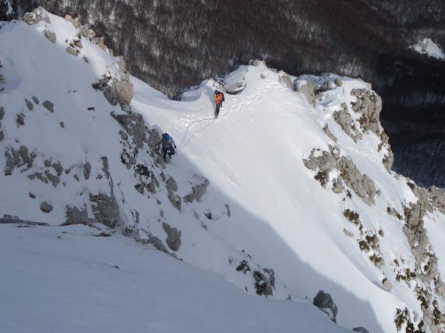 Chiaretti-Pietrostefani - Secodo salto della cresta Nord