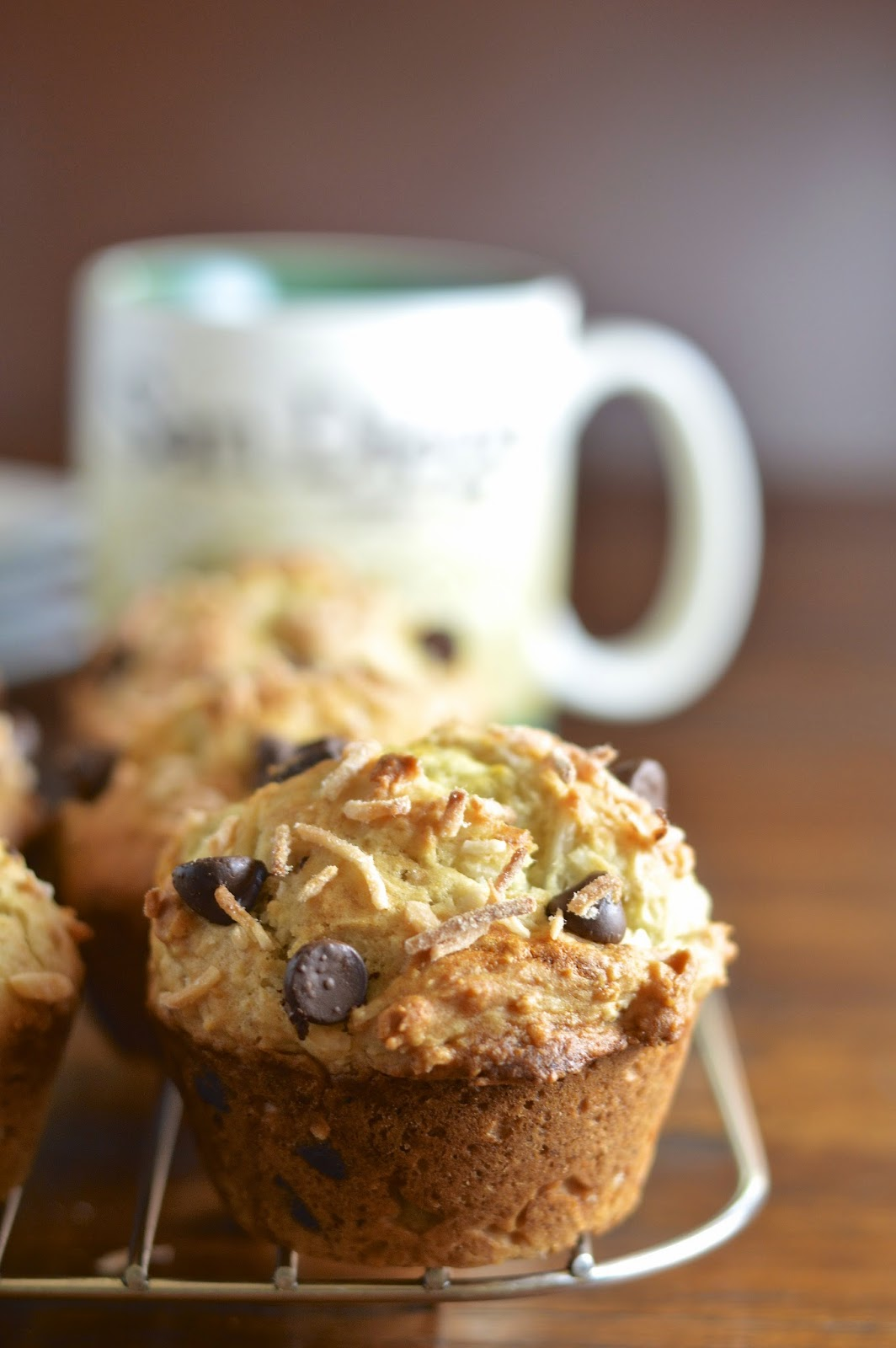 These banana coconut chocolate muffins will sweeten your morning and include a gluten free option.