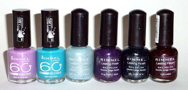 Rimmel - Magnetise, Sky High, Gallactic Blue, Purple Rain, Star Trek, Paris