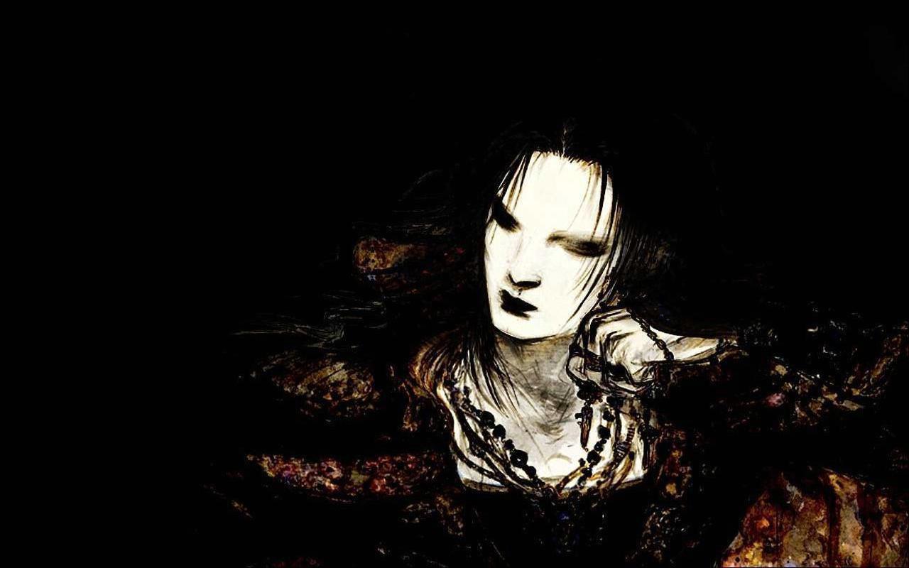 Dark evil girl art gothic wallpaper dark wallpapers gothic girls wallpapers fantasy wallpapers - Gothic hintergrundbilder ...
