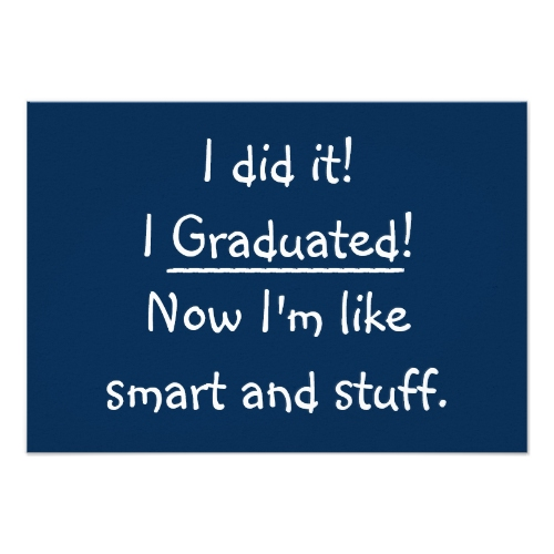 Smart And Stuff | Funny Custom Graduation Invitation