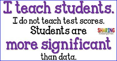 I teach students not test scores.