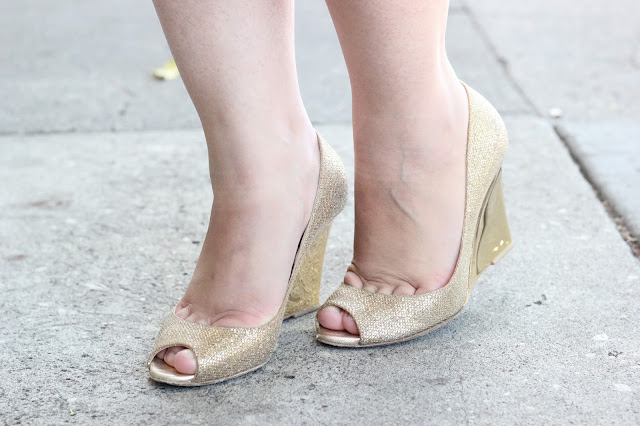 Jimmy Choo Bello Glitter Wedges