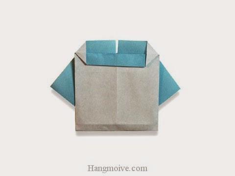 Cách gấp, xếp cái áo trẻ em bằng giấy origami - Video hướng dẫn xếp hình quần áo - How to fold a kid clothes