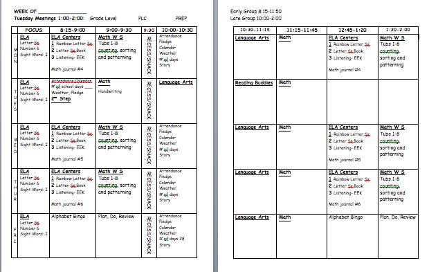 time 4 organization teacher plan book