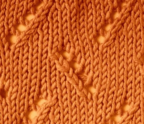 Knitting Techniques Uk : Knitting galore saturday stitch zig zag eyelet