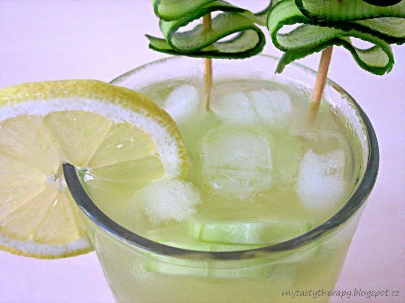 okurková limonáda detail
