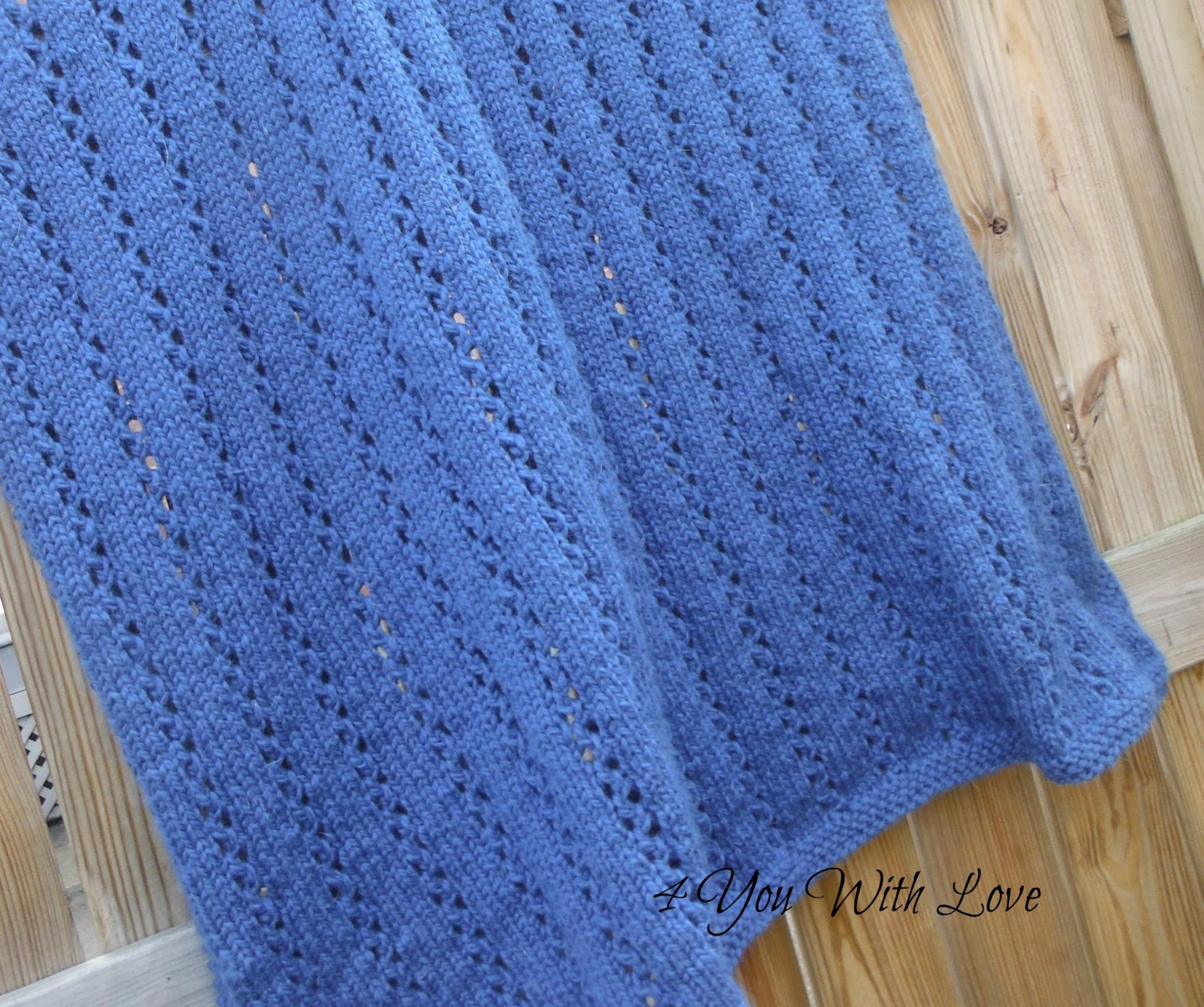 Easy Knit Afghan Patterns : Honeymoon Afghan - 4 You With Love