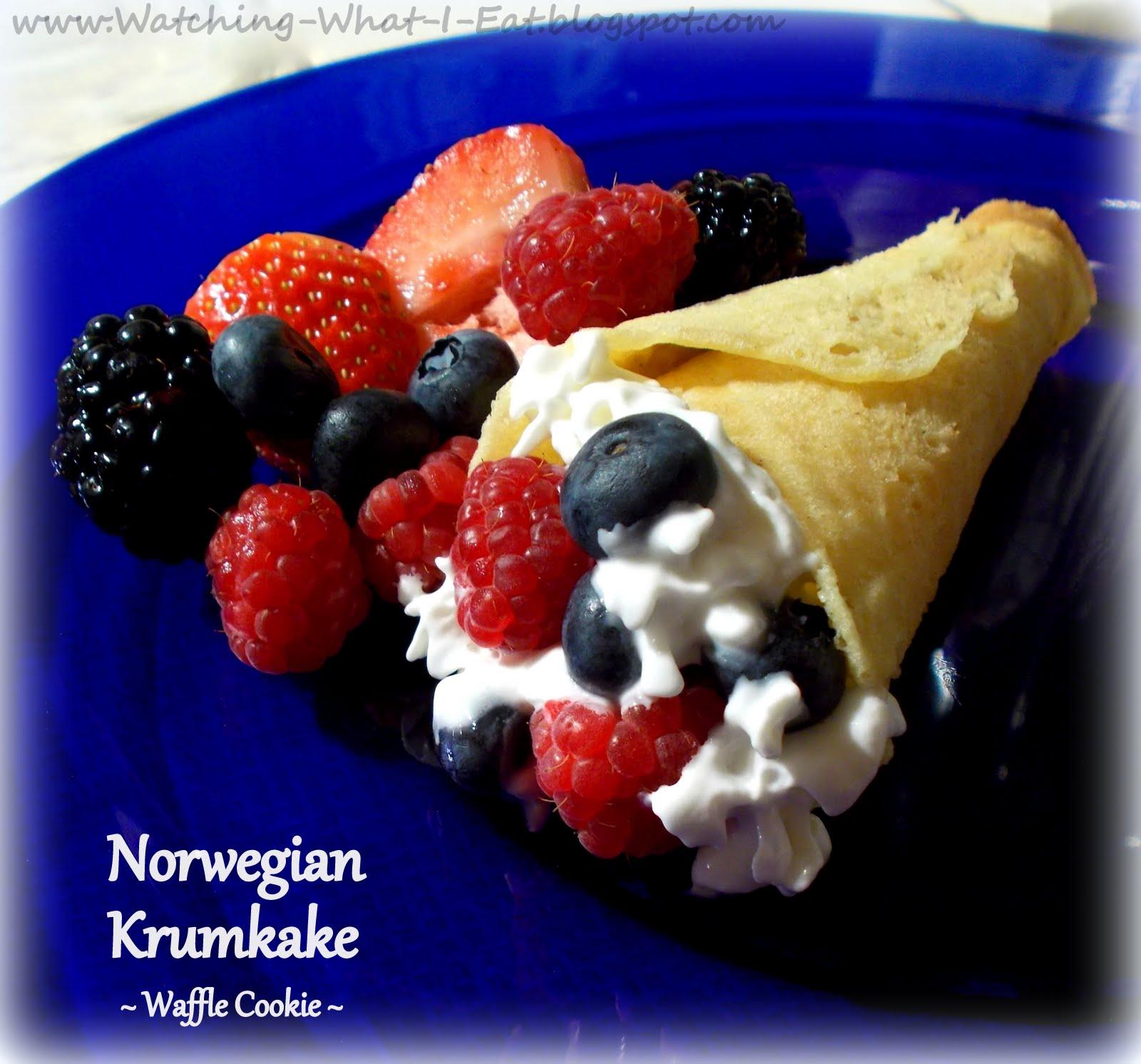 Watching What I Eat Norwegian Krumkaker Christmas Waffle Wafer