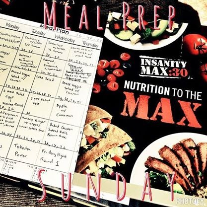 Insanity: MAX 30, Insanity, Shaun T, meal plan, recipe