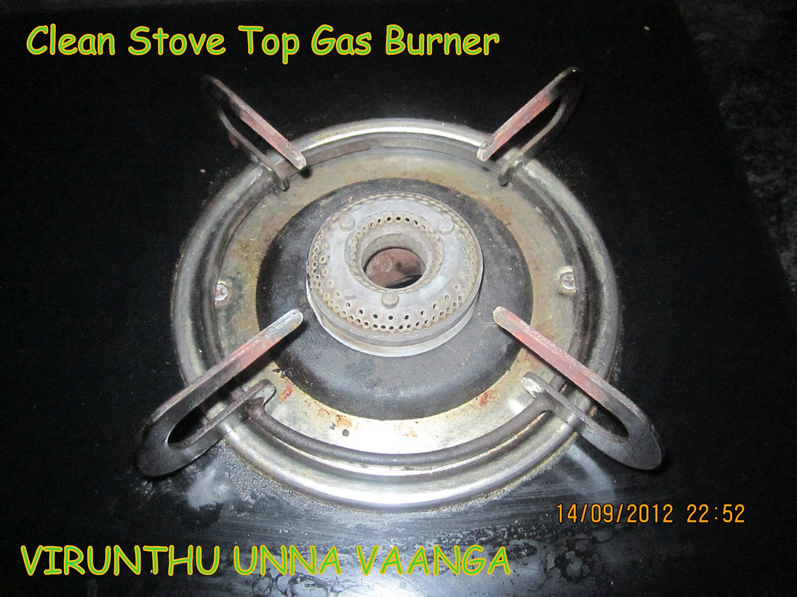 how to clean gas stove top rings