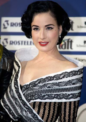 Dita Von Teese Pearl Dangling Earrings