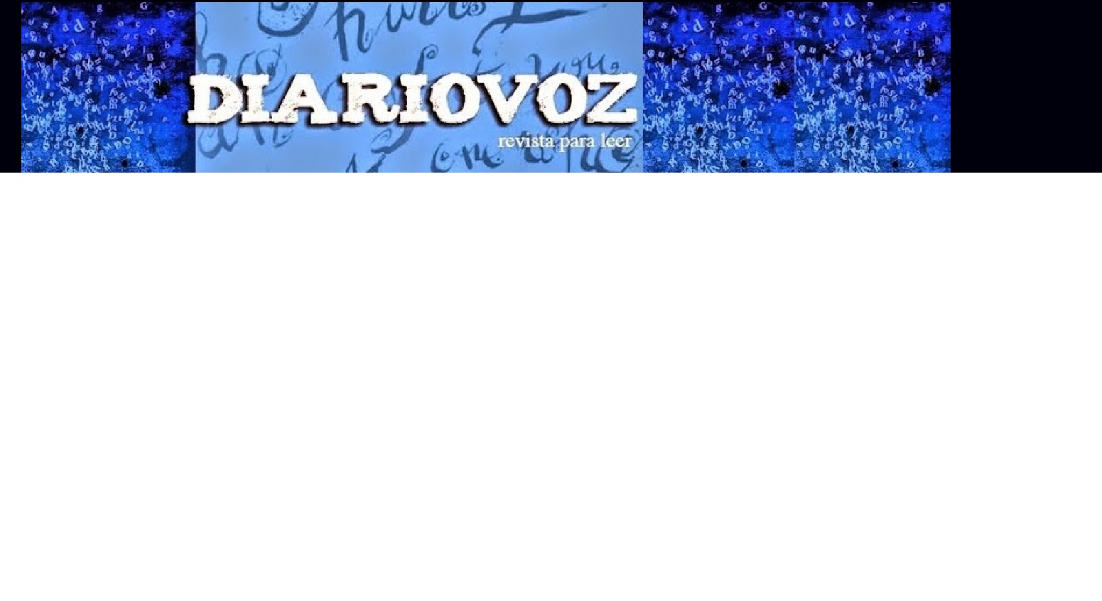 Diariovoz. Revista de literatura. Taller Literario