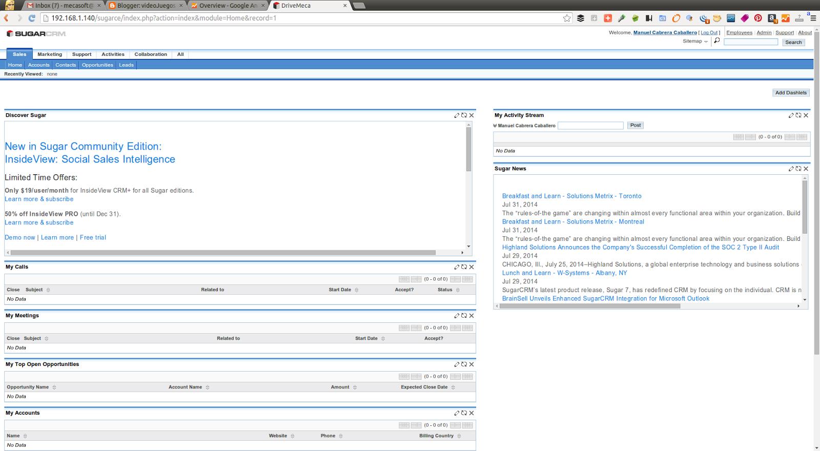 DriveMeca instalando SugarCRM Community en Linux Centos 7