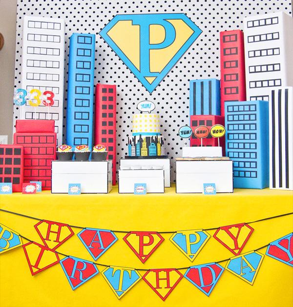 Fussy Monkey Business Super Hero Birthday Party Inspiration