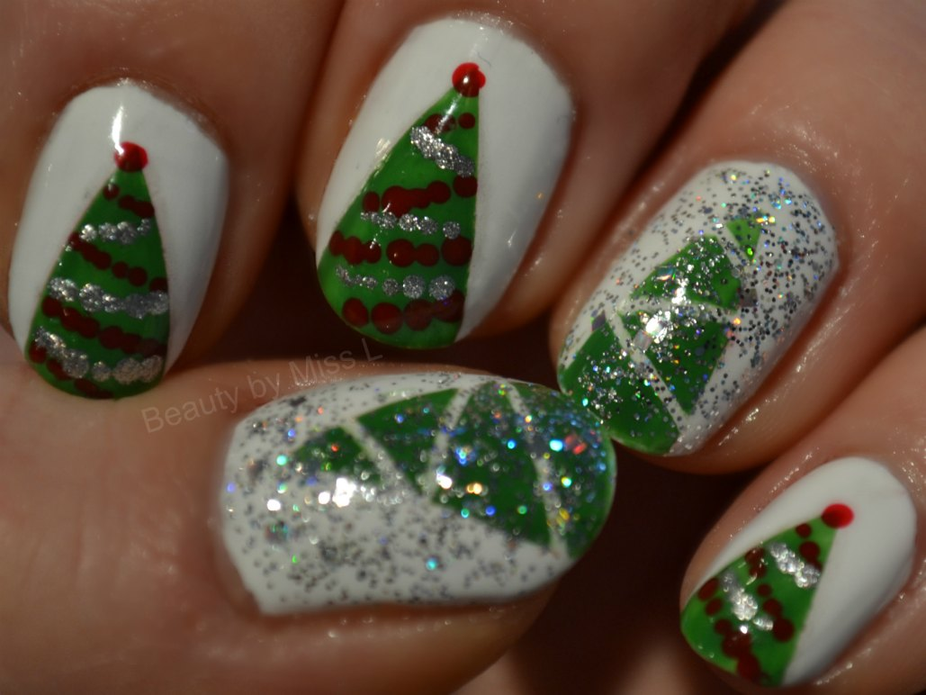 nail art, christmas themed nails, jõululikud küüned