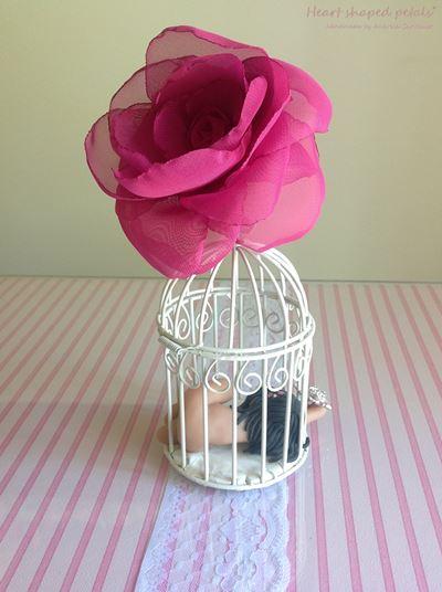 rosas em tecido para cabelo noivas