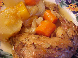 Braisé de cuisses de poulet du verger
