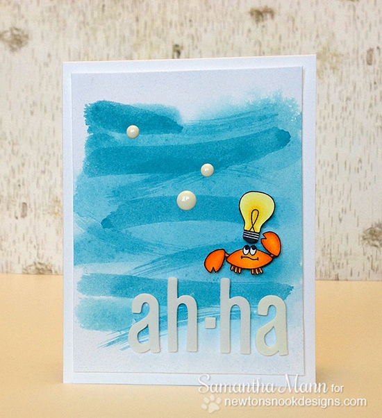 Ah-ha! Cute Lightbulb Card by Samantha Mann for Newton's Nook Designs