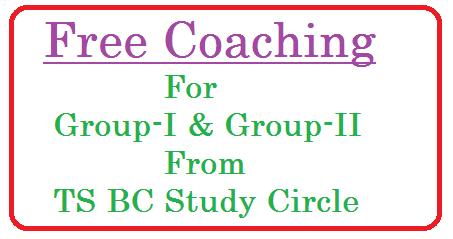 TSBC Study Circle Free Coachin for Groip-I and Group-II telangana-bc-study-circle-free-coaching-tsbcstudycircles.cgg.gov.in