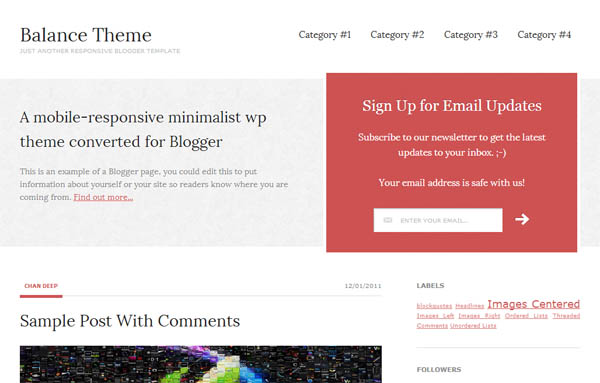 balance theme responsive blogger template