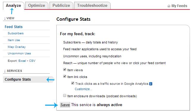 configure stats