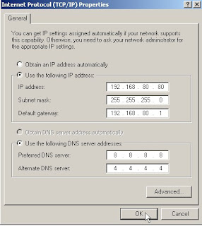 Konfigurasi IP Address Di Windows XP