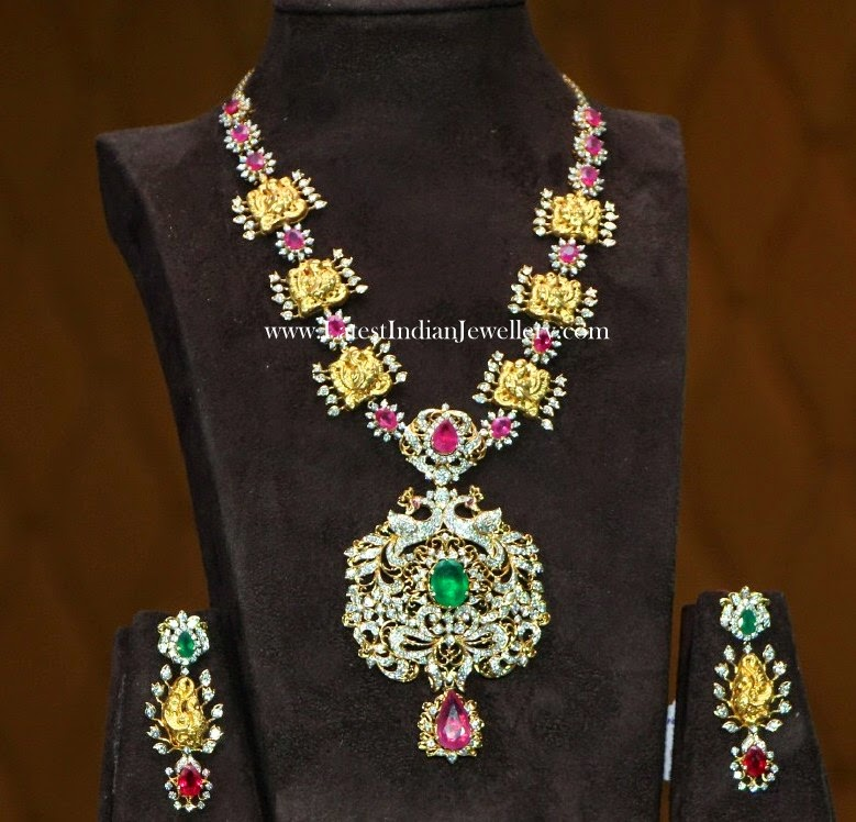 Diamond Nakshi Gold Fusion Haram