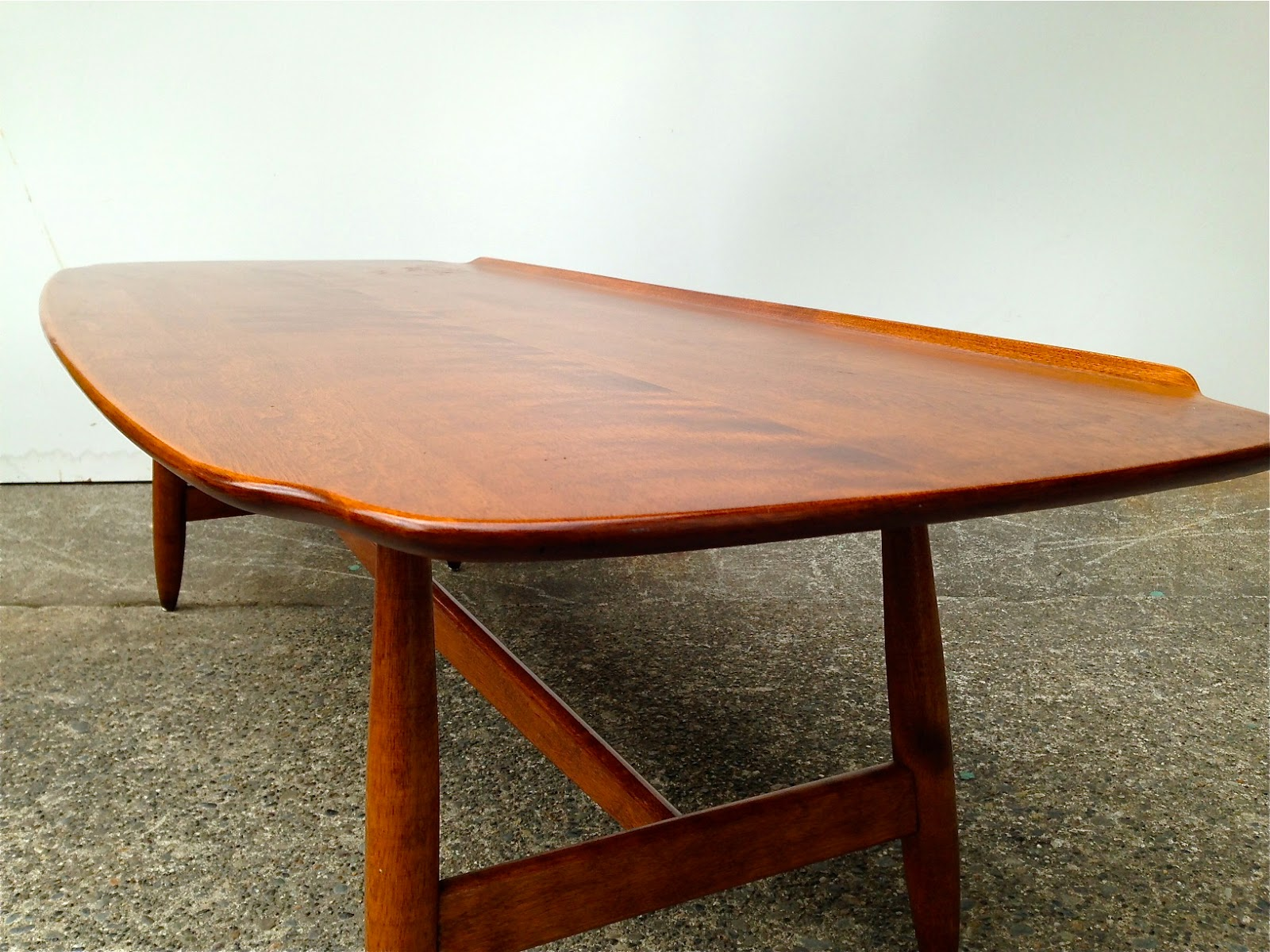 SPARKLEBARN MID CENTURY MAPLE SURFBOARD COFFEE TABLE by CONANT BALL