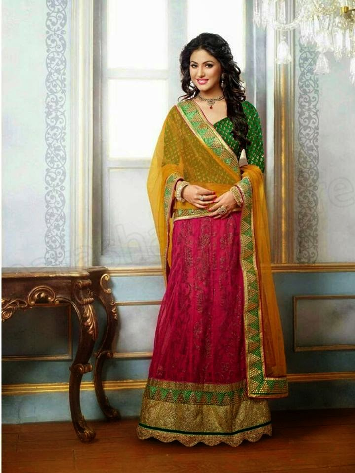 Lehenga choli collection with hina khan by natasha couture 2014 amp 2015
