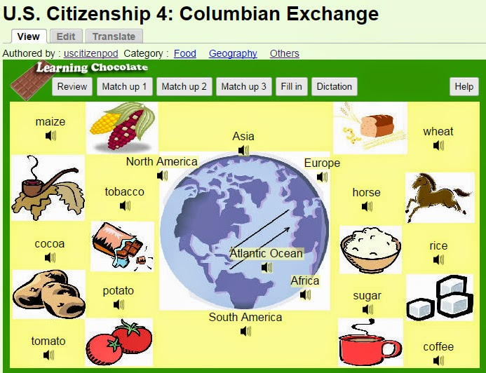 review columbian exchange A close reading lesson with interactives exploring the columbian exchange, based upon 1493: uncovering the new world columbus created by charles mann.