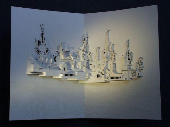 ingrid siliakus esculturas arquitetura de papel