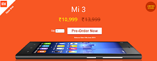 Buy Redmi Mi3 for Rs.10,999 at Greendust: BuyToEarn