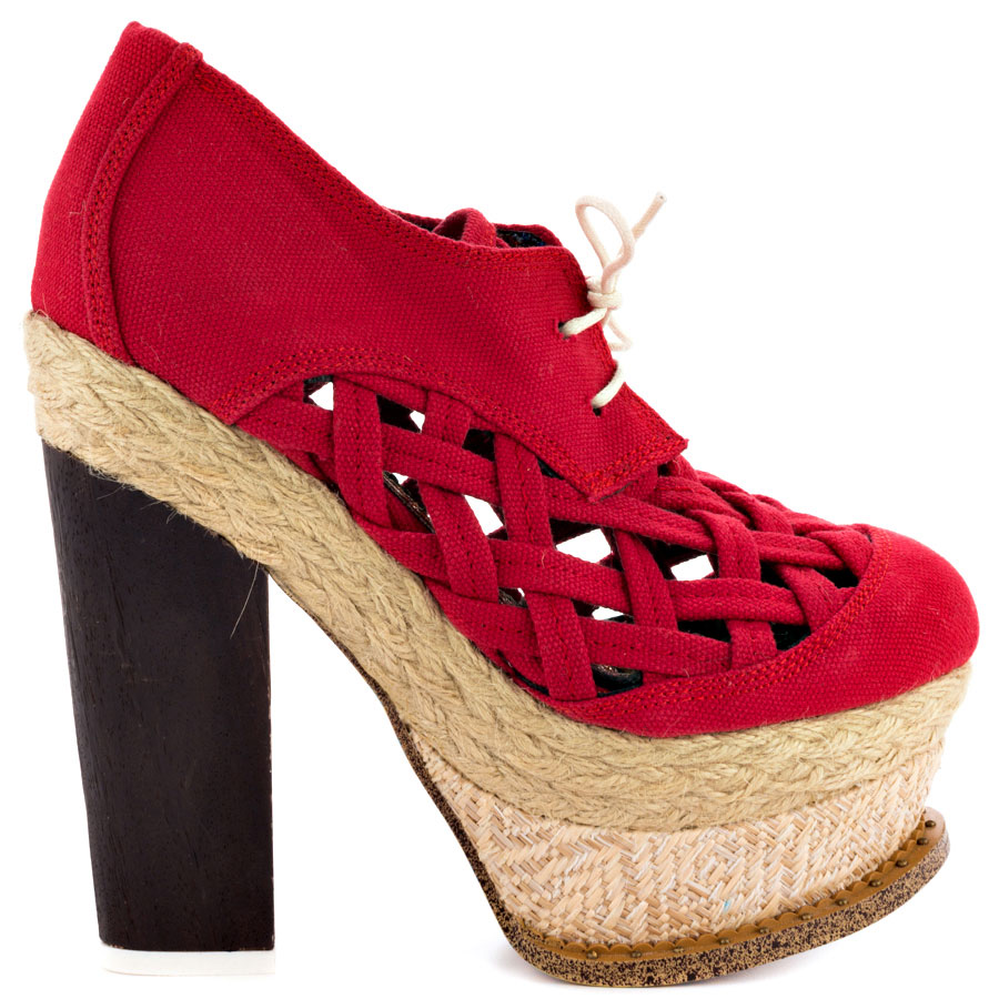 Red, block heel, Irregular choice, www.heels.com