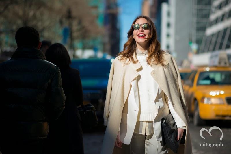 Editor and Chief of Vogue Turkey Ece Sukan at New York Fashion week