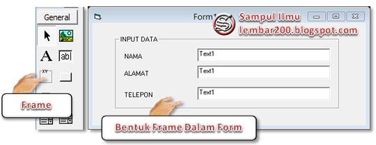 Cara Menggunakan Frame Di Visual Basic