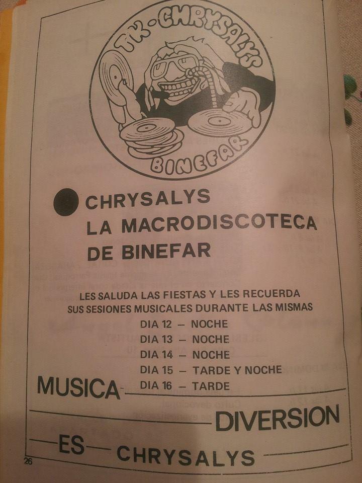 Discoteca Chrysalys Binéfar