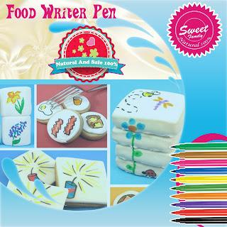 أقلام الرسم والكتابة الحلويات