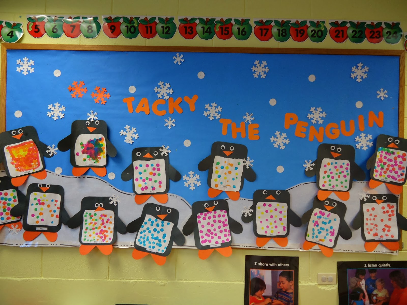 Trinity preschool mount prospect tacky the penguin bulletin board