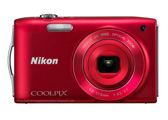 Harga dan Spesifikasi Kamera Nikon Coolpix S3200 Terbaru