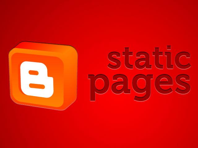 halaman statis blogger