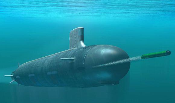 Ilustrasi kapal selam Kelas Virginia