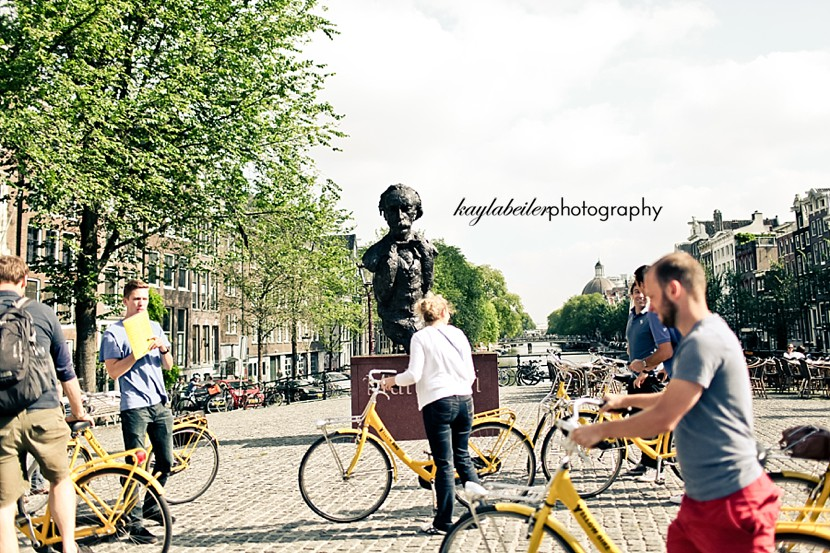 biking amsterdam photo